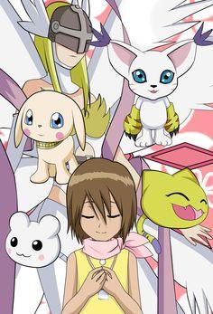 digimon adventure anime kawaii cute girl kari hikari