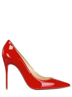 Killer Red!!!  I'd probably fall down and kill myself in them.  But I love them just the same!  Wow!  qb  LOUBOUTIN 100mm Decollete 554 Patent Pointy Pumps - Lyst