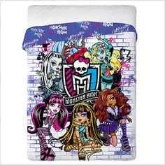 """Narzuta bawełniana """"Monster High""""  Wykonana w 100% z bawełny najwyższej jakości. Staranne wykończenie i materiał miły i miękki w dotyku to dodatkowe atuty tej praktycznej narzuty."""