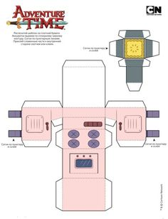Adventure Time Crafts, Adventure Time Parties, Paper Crafts Origami, Diy Paper, Olaf Craft, Bullet Journal Flip Through, Barbie Em Paris, Free Paper Models, Paper Doll House