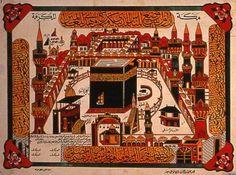 Old kaaba Mecca Mosque, Mekka, Arabic Art, Inspirational Artwork, Desert Rose, Sufi, Illuminated Manuscript, Islamic Art, Old Pictures