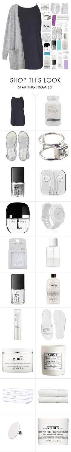 """""""AQUAMARINE"""" by pheachy ❤ liked on Polyvore featuring Murad, Aéropostale, NARS Cosmetics, Marc Jacobs, Nixon, Topshop, SUQQU, philosophy, NIKE and H&M"""