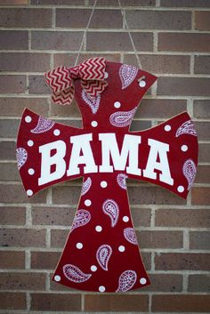 Alabama Cross Door Hanger Would Look Much Better In