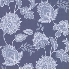 Sample Danfi Blue Jacobean Wallpaper from the Savor Collection by Brewster Home Fashions