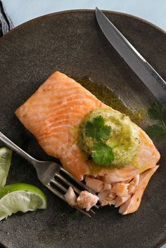 "NYT Cooking: Reader's Digest, as homey as it gets, took me by surprise with an international lineup of recipes in its ""30 Minute Cookbook.""  I gave its recipe for salmon with lime-herb butter a try, partly because keeping compound butters in the refrigerator is a terrific time saver."