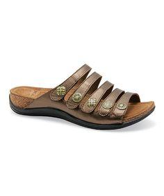 e8a02da86d05 Dansko Bronze Metallic Janie Leather Sandal