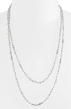 Alainn Extra Long Bezel Cubic Zirconia Necklace (Nordstrom Exclusive) $148 @ Notdstrom.  Rose Gold is the one I want.