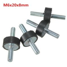 4 x RUBBER MOUNTS 25 dia x 20 long male M6 anti vibration exhaust generator