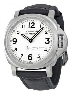 Panerai Luminor Base 8 Days Acciaio Mechanical Blanco Marcar hombres reloj
