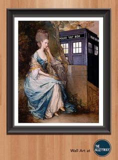Doctor Who The Doctors Wife 11 x 14 Fan Art Poster. A perfect merging of geekery and classical art. Doctor Who is all about adventure,