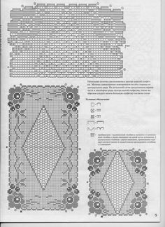 trittico filet fiorellini (2) - magiedifilo.it punto croce uncinetto schemi gratis hobby creativi