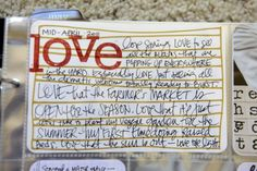 love the homemade journaling card...with marker lines and stamping