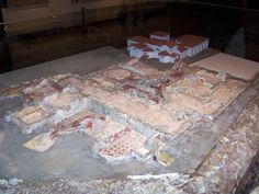 Maqueta de las termas romanas de Campo Valdés (Gijón), construidas en el siglo I.