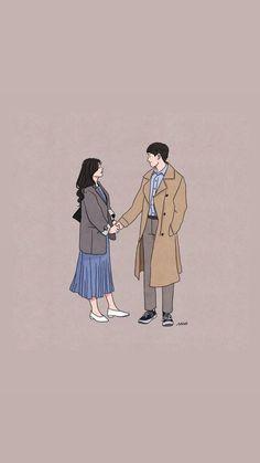Rekomendasi Nama In 2021 Cute Couple Wallpaper Cute Couple Drawings Cute Couple Art