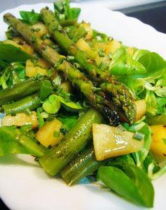 Ensalada verde con manzana | #Receta de cocina | #Vegana - Vegetariana ecoagricultor.com