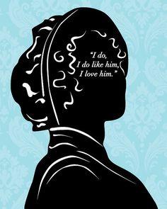Jane Austen Pride and Prejudice Art Print by 10cameliaway on Etsy, $25.00