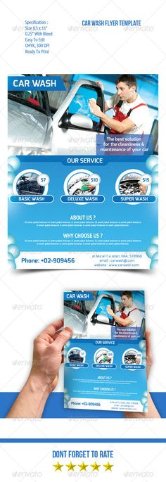 Car Wash Flyer | Car Wash, Ad Layout And Print Templates