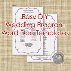 Programs Template Microsoft Word Diy Instructions On How To Make Your Own Booklet Style Wedding