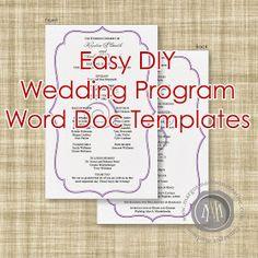 16 Best Wedding Program Template Images Wedding Ceremonies