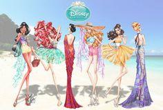 Disney Princess Summer Collection 2015 by Guillermo Meraz
