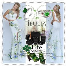 """Jeulia Jewelry"" by lip-balm ❤ liked on Polyvore featuring Sherri Hill, Bottega Veneta, women's clothing, women's fashion, women, female, woman, misses, juniors and jeulia"