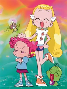 Tags: Ojamajo DoReMi, Harukaze Pop, Makihatayama Hana, Majo Rika, Official Art, Artist Request, LaLa (Ojamajo DoReMi)