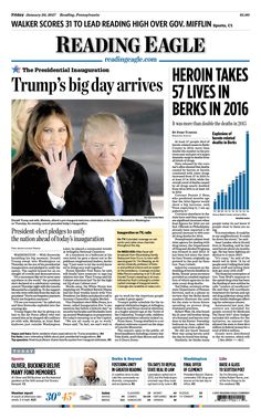 Today's front page. Jan. 20, 2017