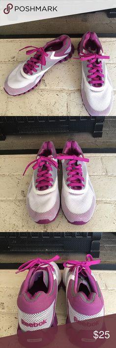 Women's Reebok ZigNano Only worn handful of times! Purple and white Reebok ZigNano! Reebok Shoes Athletic Shoes