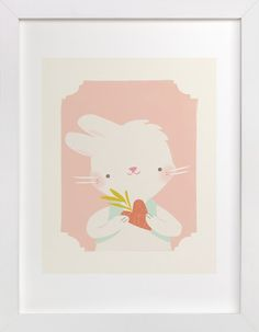 Valentine Zoo Bunny by Lori Wemple at minted.com