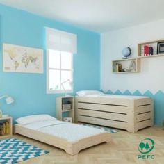 La cama de madera infantil apilable está diseñada al nivel del suelo para facilitar el paso de la cuna a la cama sin temer caídas nocturnas. Este diseño permite apilar varias camas una encima de otra sin ocupar espacio. La cama está disponible en var...