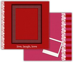 Download this Live, Laugh, Love Scrapbook Layout and other free printables from MyScrapNook.com