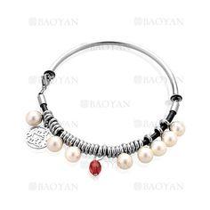 dd22656b33c3 pulsera diseno nuevo con dije perla blanca y cristal rojo en acero plateado  inoxidable para mama -SSBTG164554