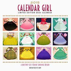 Brittney Lee: Giving Thanks! Calendar Girls, Art Calendar, Desk Calendars, 2015 Calendar, Brittany Lee, Disney Artists, Giving, Paper Dolls, Paper Art