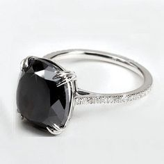 DGL CERTIFIED 2.35CT NATURAL BLACK ROUND CUT DIAMOND GOLD ENGAGEMENT 14K RING #SolitairewithAccents 2CT, $$330