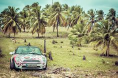 Inspiration for dull office days. Sun, sea and MINI in Brazil.