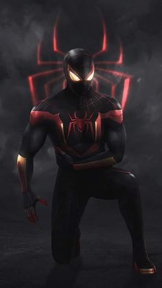 Spiderman Suits, Black Spiderman, Spiderman Art, Amazing Spiderman, Marvel Art, Marvel Heroes, Miles Morales Spiderman, Spiderman Pictures, I Love Cinema