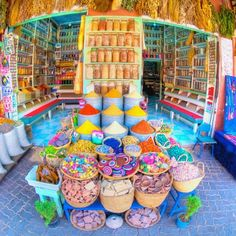 A Marrakech Spice Shop.