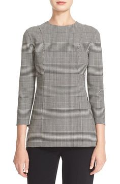 Free shipping and returns on Theory 'Lauret - Portland' Plaid Stretch Wool Top at Nordstrom.com. Traditional menswear glen plaid takes feminine shape in a three-quarter-sleeve top tailored from Italian suiting wool infused with comfortable stretch.