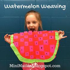 Mini Matisse: Watermelon Weavings