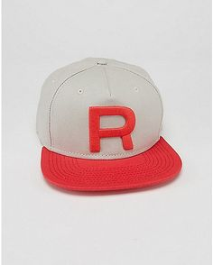 Embroidered Team Rocket Pokemon Snapback Hat - Spencer s 714a9adfe3db