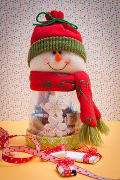 dulceros para navidad con botellas - Buscar con Google