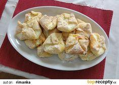 Babiččiny tvarohové šátečky s tvarohem recept - TopRecepty.cz Snack Recipes, Snacks, Lidl, Chips, Food, Snack Mix Recipes, Appetizer Recipes, Potato Chip, Potato Chips