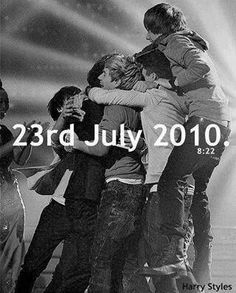 It's 8:22 in the UK!!! Happy 3 years One Direction!! I love you guys! You make me smile, laugh, cry, scream, jump up and down, dance and fangirl. Thank you so much!! :-)<<<< 5 more hours for the U.S.