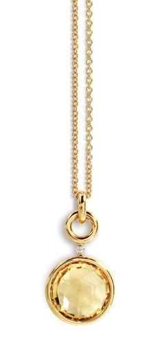 A & Furst Jicky Citrine Yellow Gold Pendant Necklace
