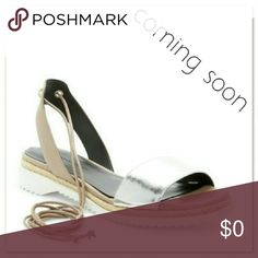 Rebecca Minkoff Lindy d'Orsay Ankle Wrap Sandal NWT in Original packageing with box Rebecca Minkoff Lindy d'Orsay Ankle Wrap Sandal ColorSAND-SILVE Woman's size 8.5 Rebecca Minkoff Shoes Espadrilles