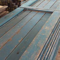 Gebruikt steigerhout dikte 3 cm blauw