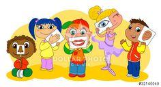 I cinque sensi illustrati dai bambini