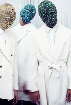 Fashion hood balaclava mask menswear margiela