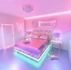 Image in neon moods 💚 collection by Charli's Angel 💓 Neon Bedroom, Room Ideas Bedroom, Bedroom Decor, Cute Room Decor, Awesome Bedrooms, Cool Rooms, Chill Room, Kawaii Room, Girl Room Decor