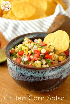Grilled Corn Salsa Recipe - Take my advice and double this recipe, it's that good.  I don't think grilling the corn added much flavor, but did add extra work.  Maybe I didn't char it enough.    Definitely will make this again.  Grade - A.
